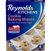 Reynolds Kitchens Cookie Baking Sheets Pre-Cut Parchment Paper 25 ct Box