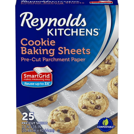 Reynolds Kitchens® Cookie Baking Sheets Pre-Cut Parchment Paper 25 ct Box