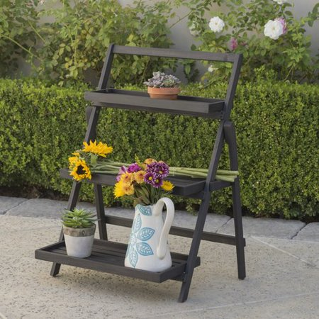 Charlton Home Goreville Modern Outdoor Multi Tiered Plant Stand