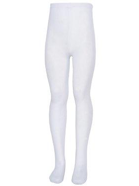 4e34e184e Product Image Nicole Little Girls White Soft Stretchy Comfy Tights 2T-4T
