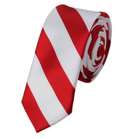 Satin Stripe Woven Tie (NYFASHION101 Men's 2