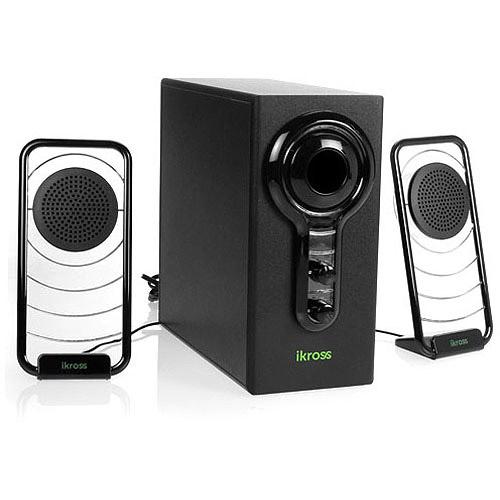 IKross Blue LED Hi-Fidelity 2.1 Satellite Speaker Sound S...