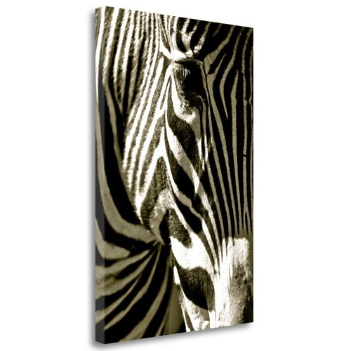 Tangletown Fine Art 'Zebra Head' Graphic Art Print on Wrapped Canvas