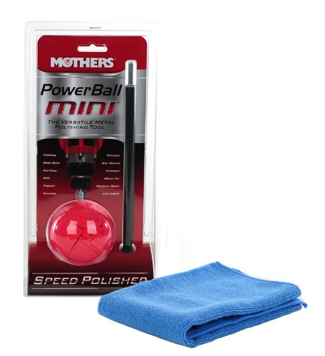 Mothers Mini Powerball With 10 inch Extension Plus Bonus Microfiber Towel