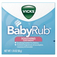 Vicks BabyRub Chest Rub Ointment with Soothing Aloe, Eucalyptus, Lavender, and Rosemary, from the makers of VapoRub, 1.76 oz
