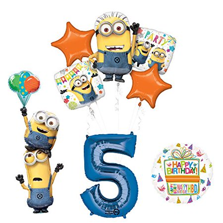 Despicable Me 3 Minions Stackers 5th Birthday Party Supplies