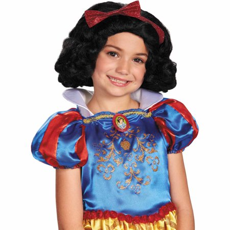 Disney Snow White Girls' Halloween Wig (Halloween 1 Disney Channel)