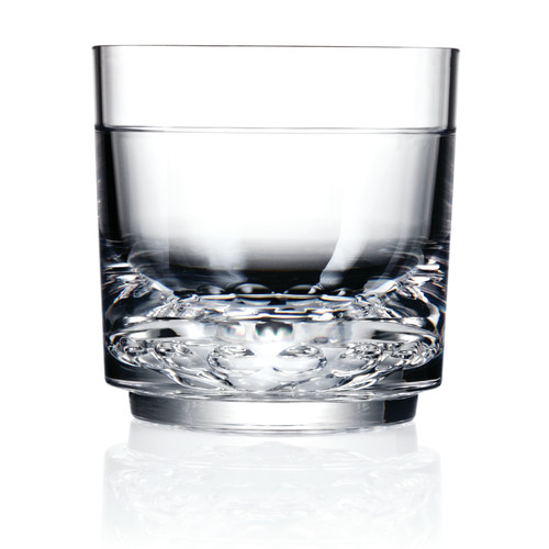 Drinique Elite Rock Old Fashioned 10 oz. Plastic Cocktail Glass (Set of 4)