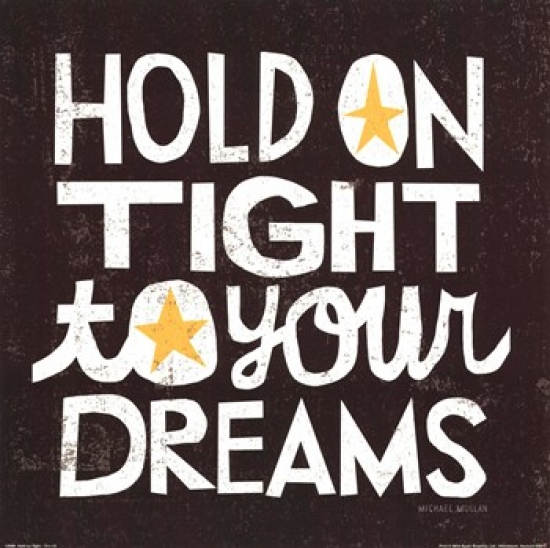 Hold On Tight Poster Print by Michael Mullen (12 x 12)