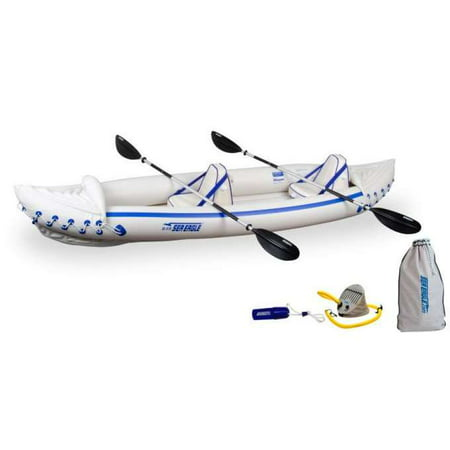 SEA EAGLE 370 Professional 3 Person Inflatable Sport Kayak Canoe w/