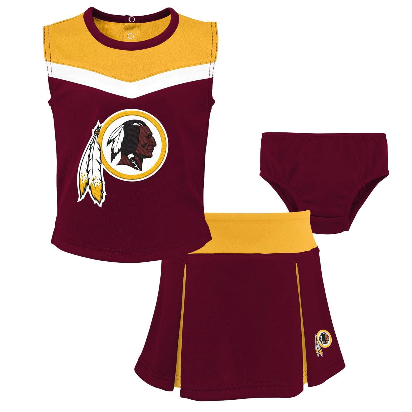 """Washington Redskins NFL Girls """"Spirit Cheer"""" Cheerleader 2 Piece Set"""