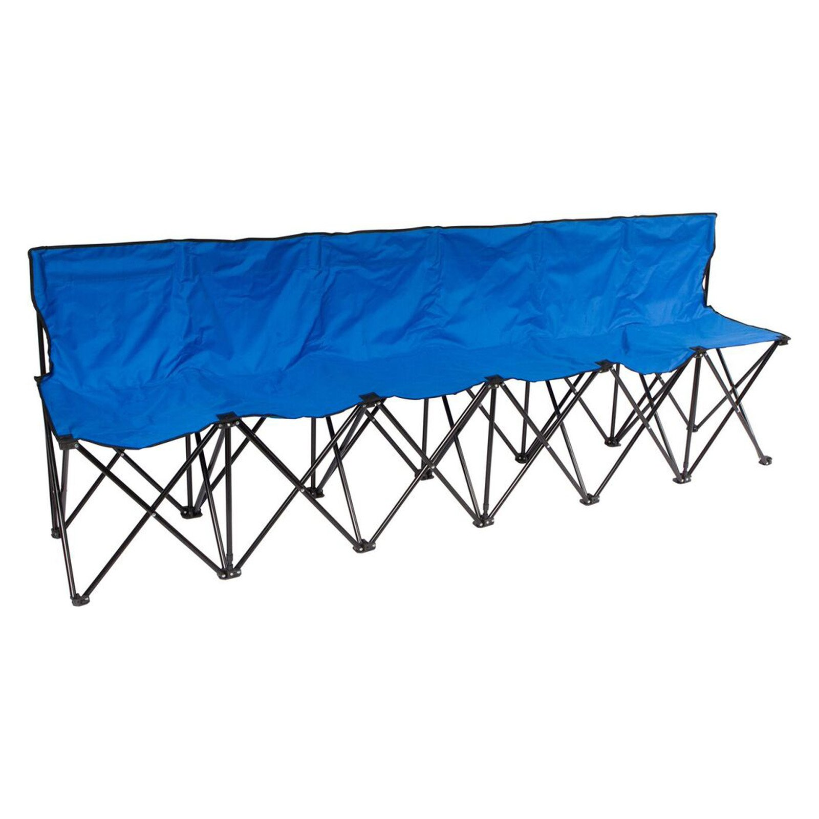 Trademark Innovations 6-Person Folding Sports Sideline Bench with ...