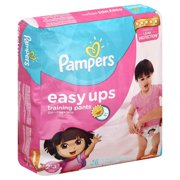 Pampers Easy Ups Girls Training Pants, Size 2T-3T, 25 Pants