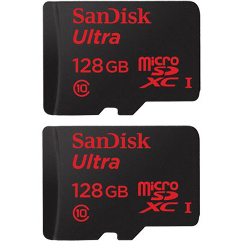 Sandisk 2-Pack Ultra microSDXC 128GB UHS-I Class 10 Memory Card w/ Adapter (256GB Total)