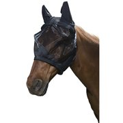 Tough 1 Deluxe Comfort No Nose Fly Mask Black