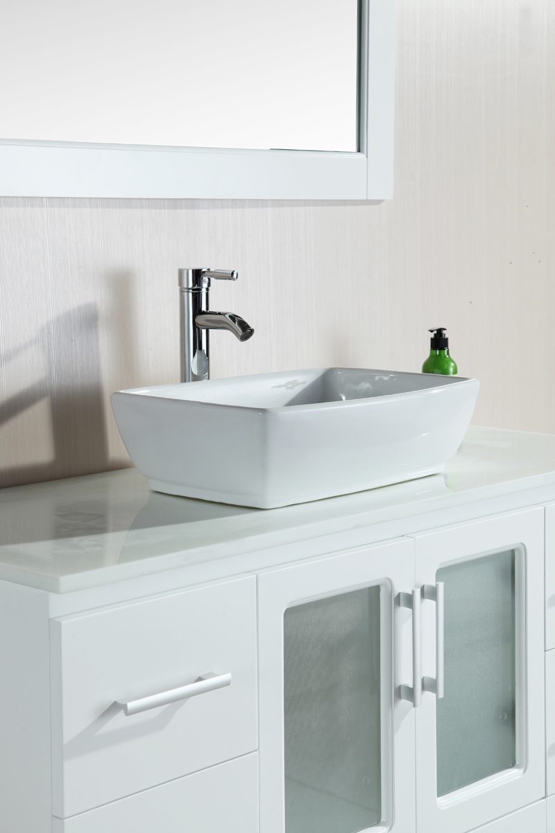Design Element Stanton 48 Single Vessel Sink Bathroom Vanity Set In White Walmart Com Walmart Com