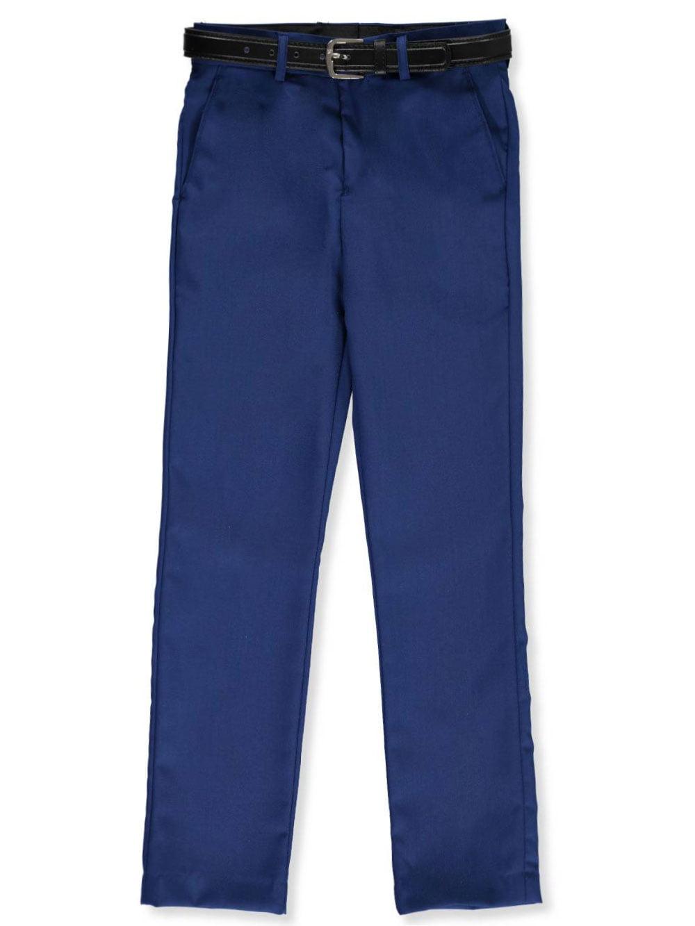 Alberto Danelli Boys Flat Front Belted Dress Pants