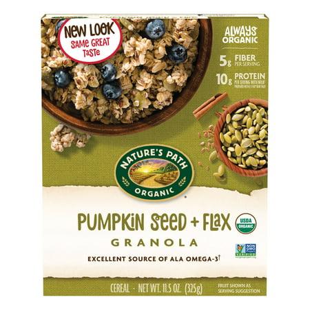 - (2 Pack) Nature's Path Organic Granola, Pumpkin Seed & Flax, 11.5 Oz