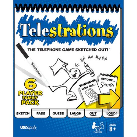 Family Party Games (Telestrations 6-Player Family)