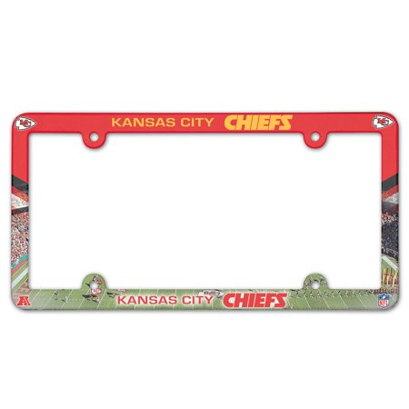Kansas City Chiefs Official NFL 12 inch x 6 inch Plastic License Plate Frame by (Kansas City Kansas Outlet Mall)