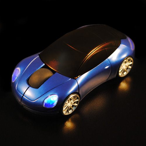Black 2.4GHz Car Shape1600DPI Wireless Optical Mouse/Mice + USB 2.0 Receiver