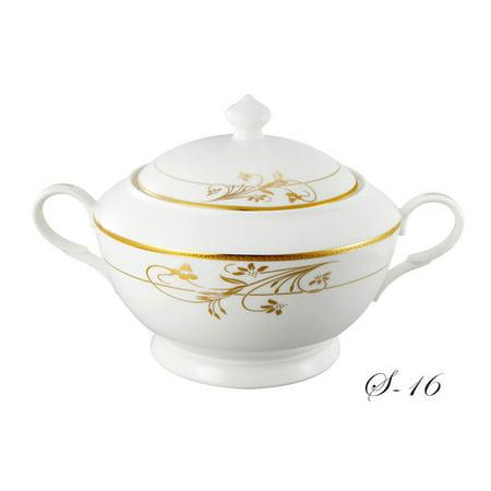 Bavarian China Bowl (Lorren Home Trends La Luna Bone China 4 qt. Tureen)