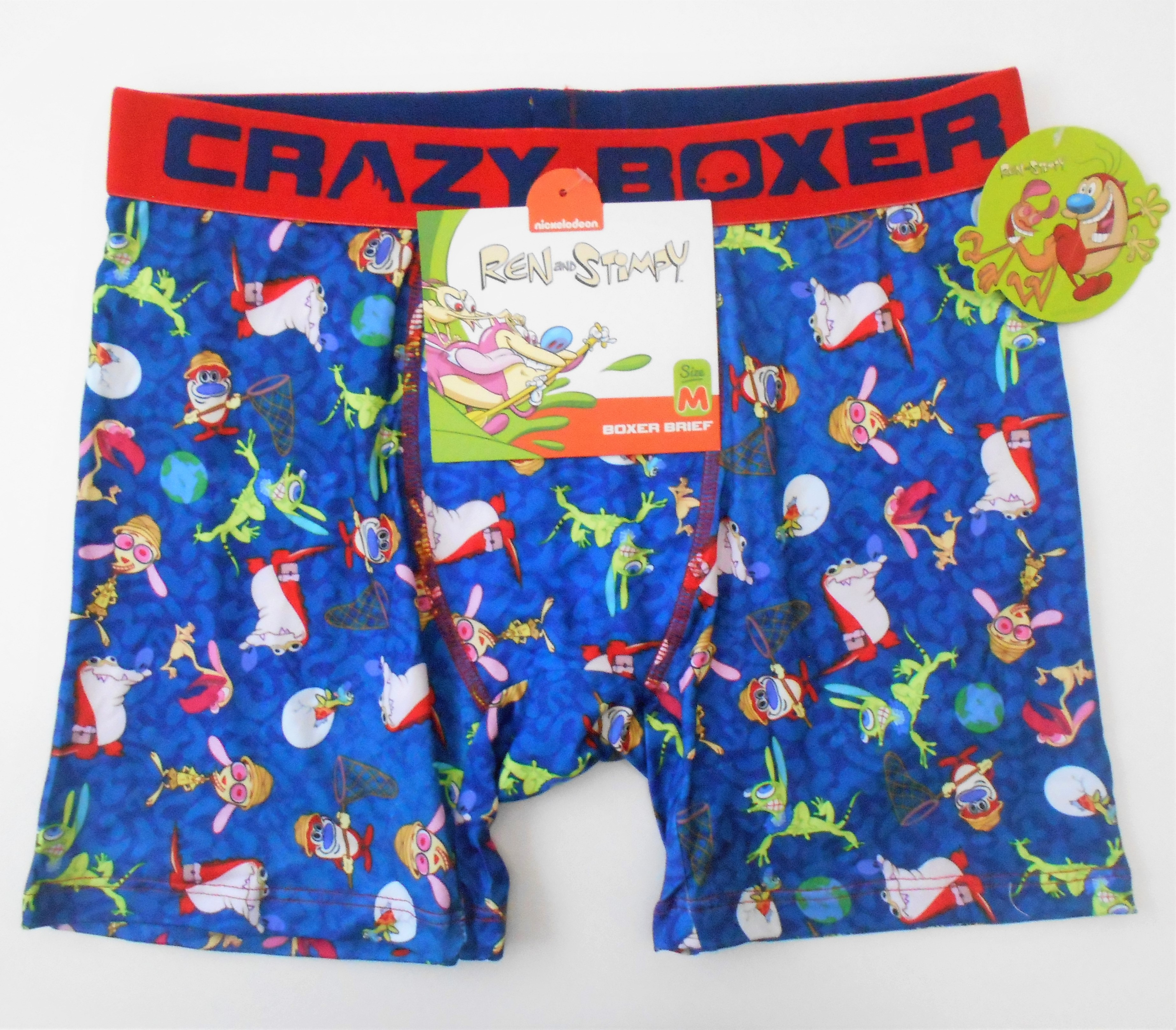 Mens Soft Breathable Painting Abstract Floral Flower Underwear Boxer Briefs