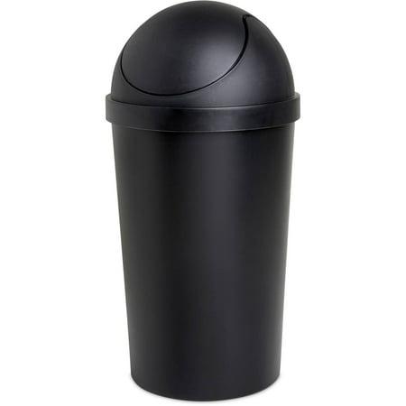 Sterilite 3 Gal./11.4 L Round Swing Top Wastebasket, Black