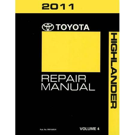 Bishko OEM Repair Maintenance Shop Manual Bound for Toyota Highlander Volume 4 Of 6 2011