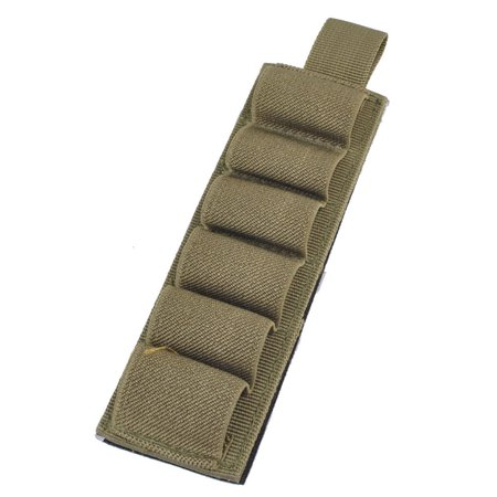 Tactical 6 Holes Shell Holder 12Ga Nylon Carrier Shotshell Pouch Color:Army green Size:6.5inch 6 Mag Pouch
