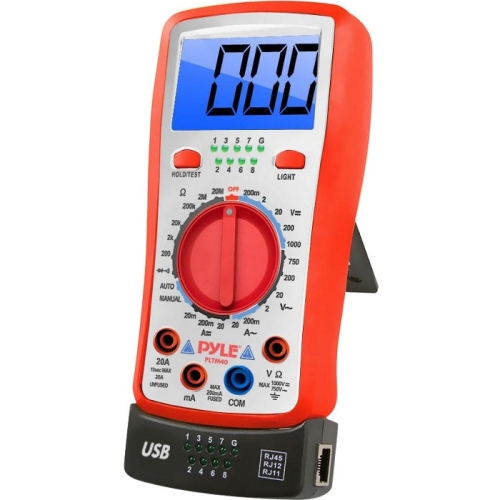 Pyle PLTM40 Digital LCD Multimeter, AC, DC, Volt, Current, Resistance, Transistor and Range