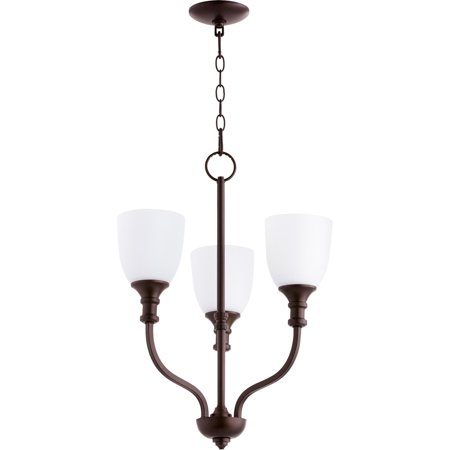 Chandeliers 3 Light With Oiled Bronze Finish Medium Base Bulbs 18 inch 180 Watts 3 Oiled Bronze Finish