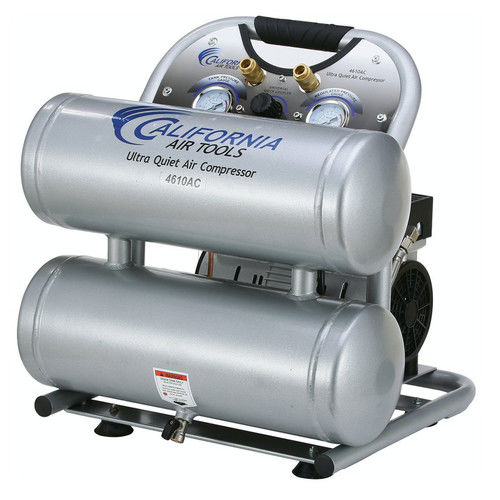 California Air Tools CAT-4610AC 1 HP 4.6 Gallon Ultra Quiet Aluminum Twin Tank Air Compressor by California Air Tools