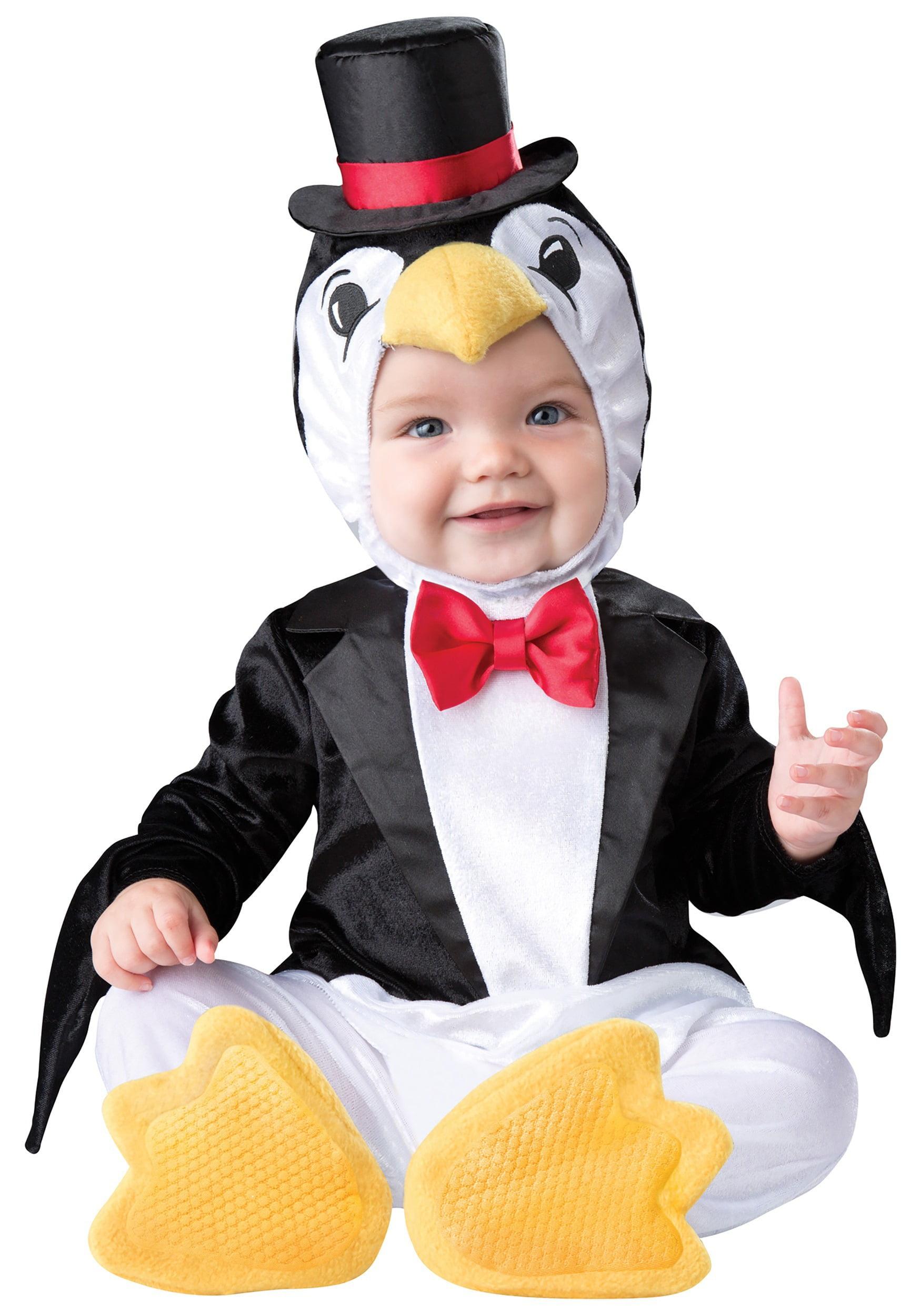 infant playful penguin halloween costume - walmart