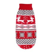 Funcee Christmas Pet Dogs Sweater with Elk Puppy Cat Clothes Cute Costume