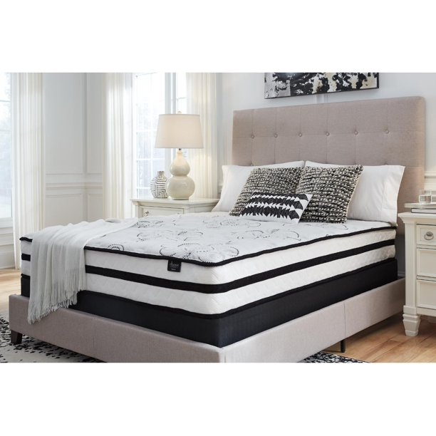 "Signature Design by Ashley 10"" Chime, Hybrid Mattress, Queen"