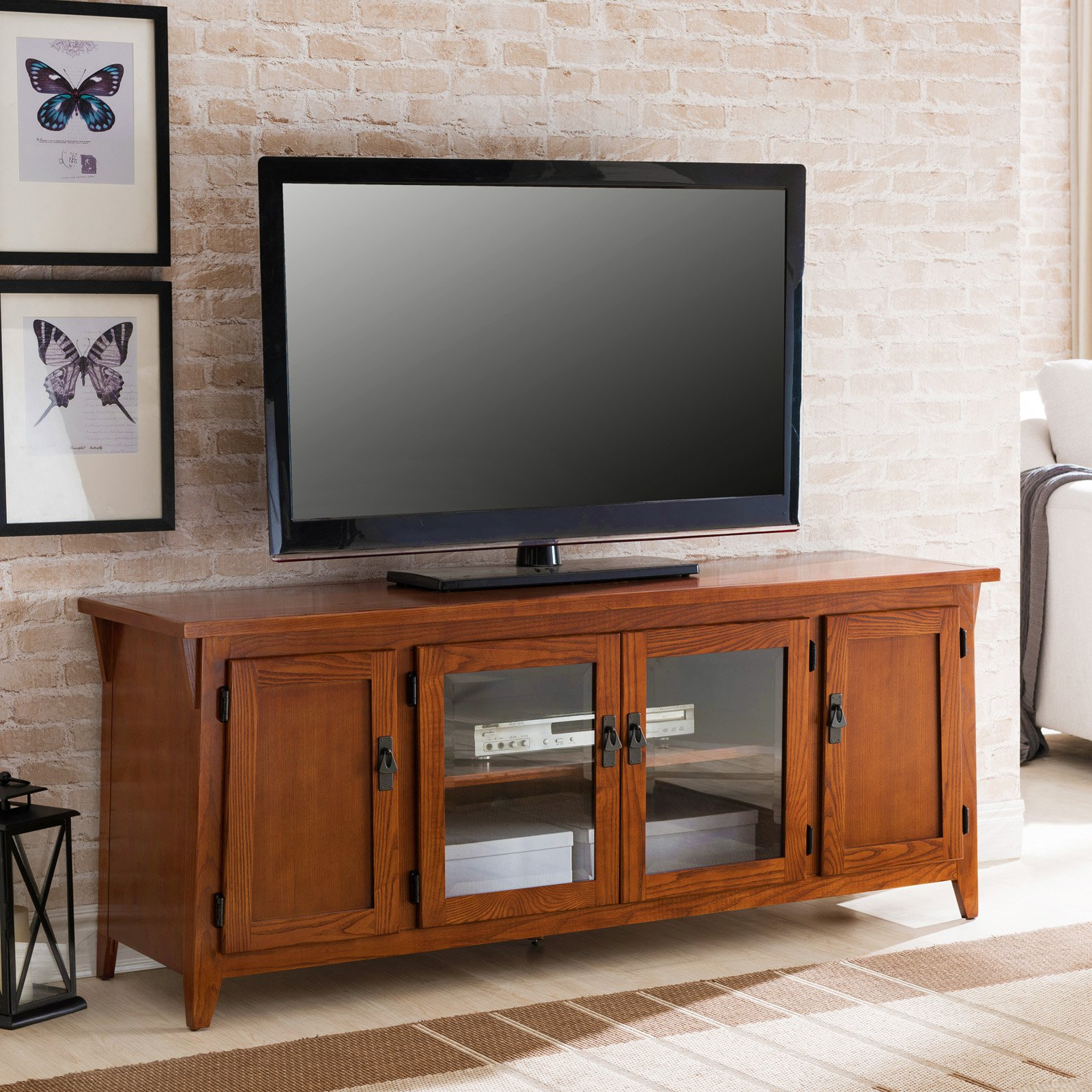 Leick Furniture Canted Side 60 in. 4 Door TV Console by Leick Furniture