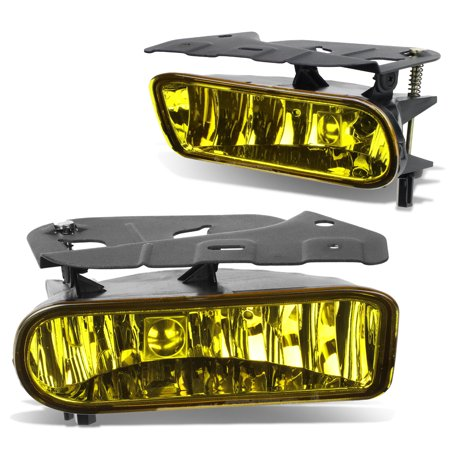 For 2002 to 2006 Cadillac Escalade EXT ESV Pair Bumper Driving Fog Light / Lamp Amber Lens 03 04