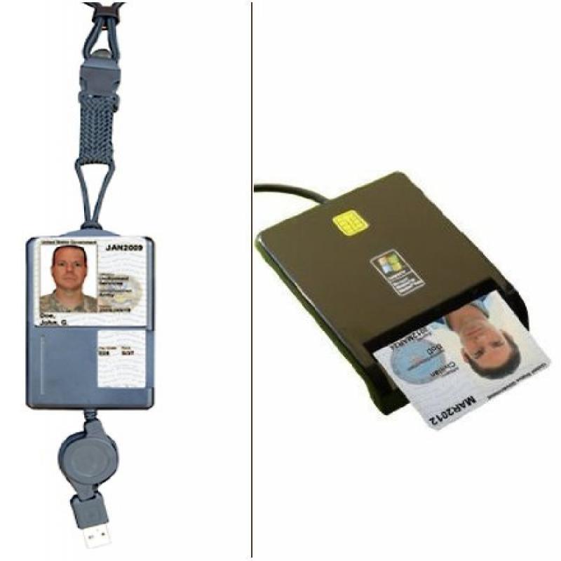 SGT119 Smart Badge CAC ID Holder & Retractable USB Smart ...