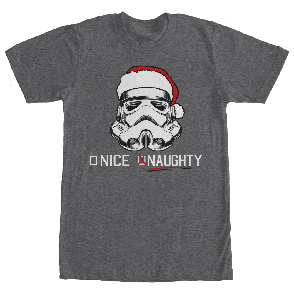 Star Wars Men's Christmas Stormtrooper Naughty List T-Shirt