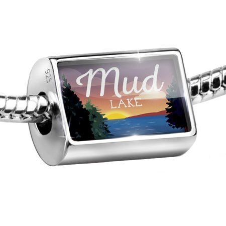 Bead Lake Retro Design Mud Lake Charm Fits All European Bracelets