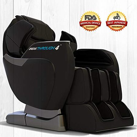 Medical Breakthrough 4 v2 Recliner Massage Chair | Full Body Shiatsu Heated Massage Chair | Zero Gravity Electric Recliner | Foot Rollers, Calf, Arms, Shoulder, Neck & Back Massager -