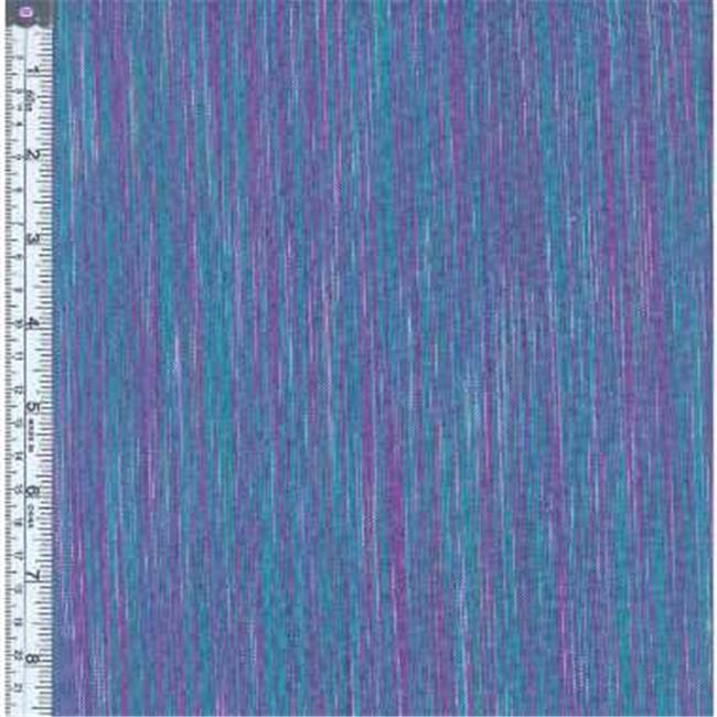 Textile Creations OR-027 Ombre Ridge Fabric, Vertical Stripe Green And Violet, 15 yd.