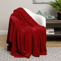 Ultra Plush Red Design Queen Size Microplush Blanket