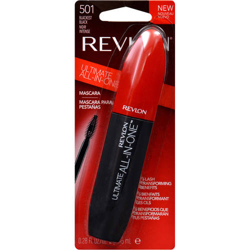 Revlon Ultimate All-in-One Mascara, 0.28 fl Oz, Blackest Black