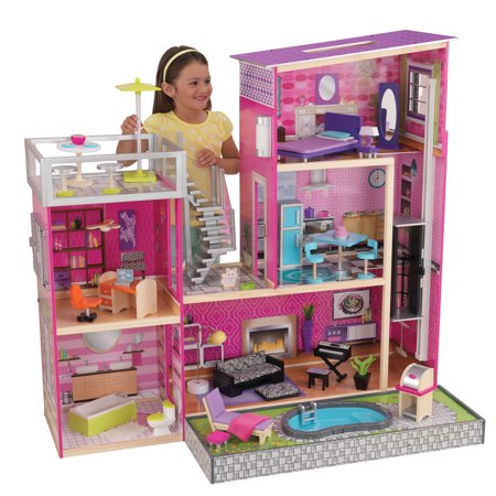 KidKraft Uptown Dollhouse with 36 accessories included Dollhouse Womens Rock