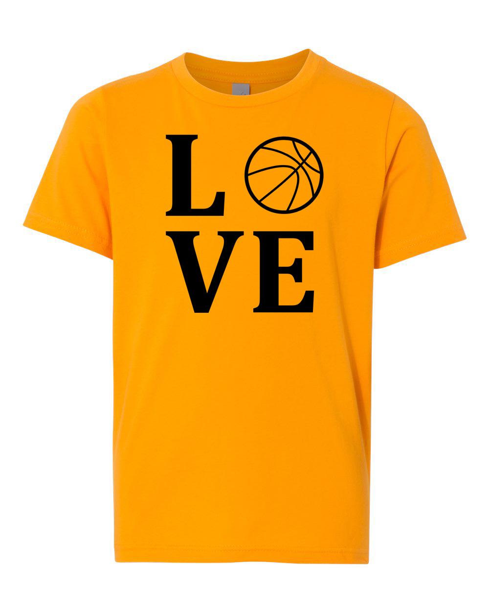 Love Basketball Sports Jersey Youth Short Sleeve T-Shirt