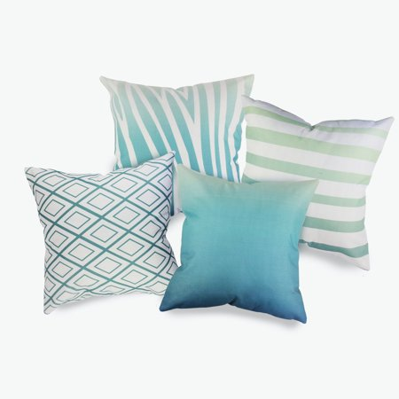 Fabricmcc Fashion Living Room Set of 4 Packs Decorative Pillow Covers 18 x 18