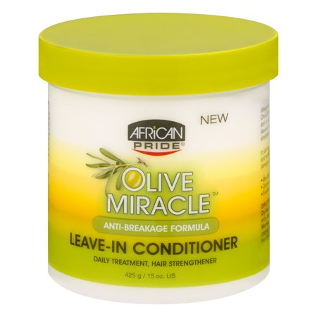 (2 Pack) African Pride Olive Miracle Anti-Breakage Formula Leave-In Conditioner 15 oz. Jar