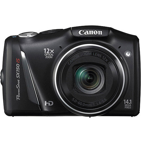 "Canon PowerShot SX150 IS 14.1MP 12X Ultra Zoom Camera w/ 3.0"" LCD Display, and HD Video, Black"